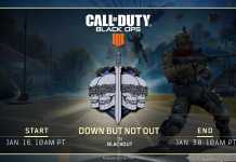 "Black Ops 4 : Blackout New LTM ""Down But Not Out"" is live now"
