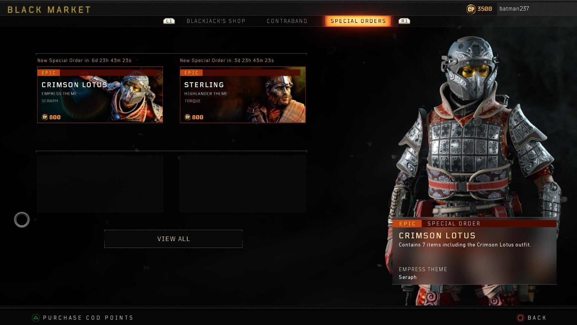 Call of Duty Black Ops 4's Black Market