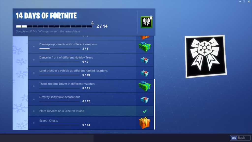 14 Days of Fortnite Day 14 Challenges and Rewards 2 Photo