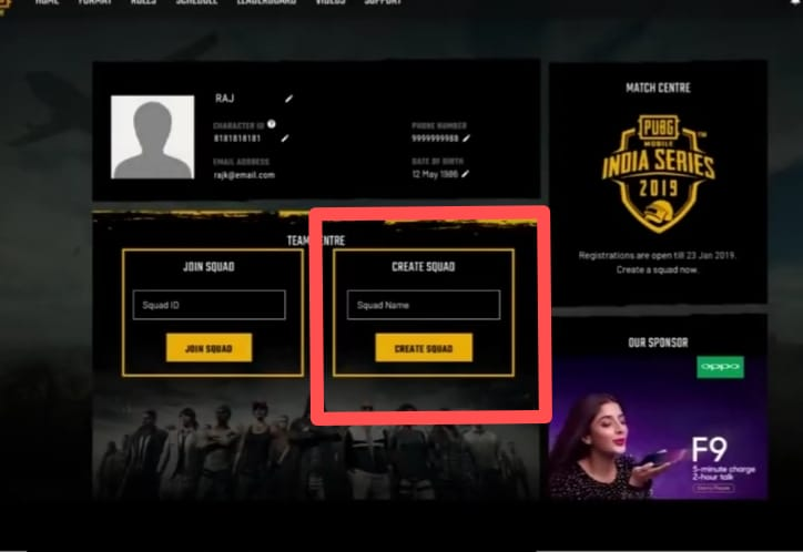 How to register for PUBG Mobile Oppo India Series 2019
