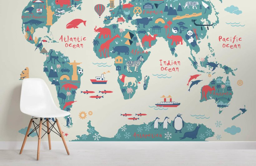 5 Unique Wallpapers For Kids Room That Will Make Them Learn