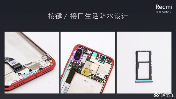 Redmi Note 7 all Buttons and Ports are WaterProof