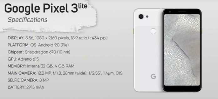 Google Pixel 3 Lite Hands-On Video leaked