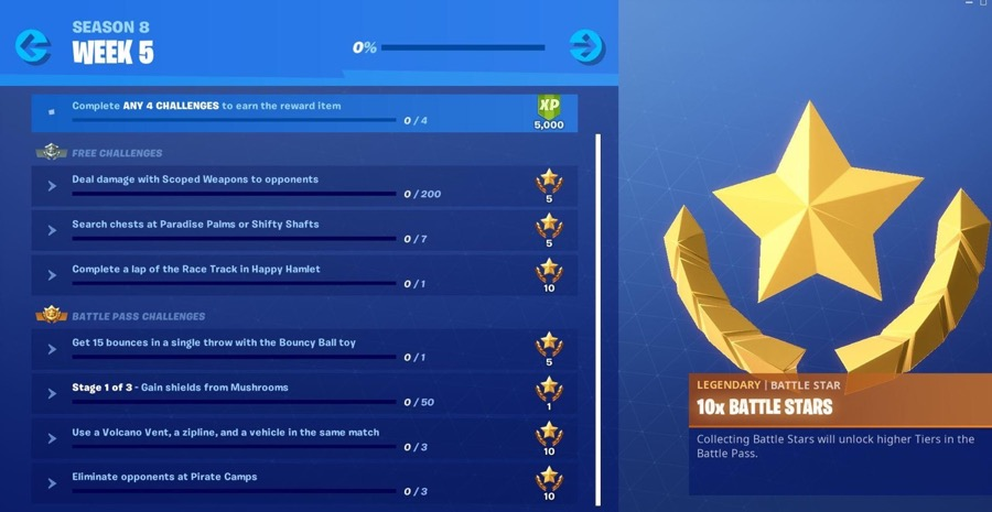 Fortnite Season 8 Week 5 Challenges Guide, Cheatsheet, Race Track in Happy Hamlet, 15 Bounces with Bouncy Ball 1 Photo