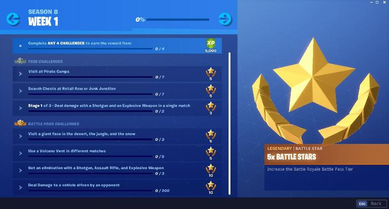 Fortnite Season 8 week 1 Challenges Guide, Cheatsheet, Visit Pirate Camps Location, Visit Giant Face in desert, jungle, snow 2 Photo