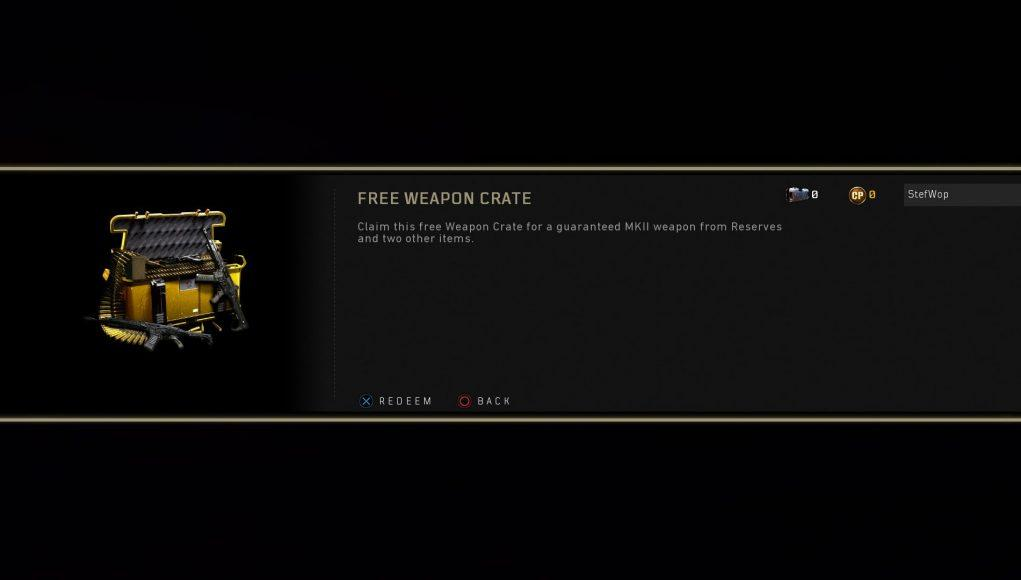 Free Weapon Crate