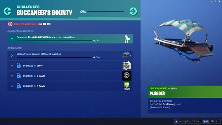 How to complete Fortnite Buccaneer's Bounty Challenges-Guide, Pirate Camp Locations 1 Photo