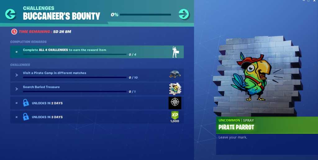 How to complete Fortnite Buccaneer's Bounty Challenges-Guide, Pirate Camp Locations 3 Photo