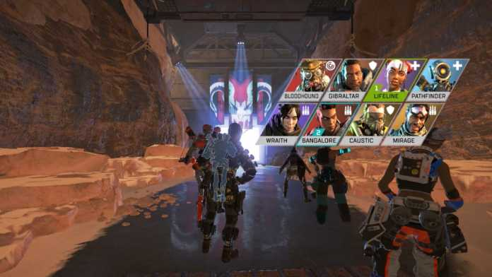 Leaked lobby area in Apex Legends