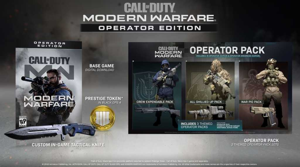 Operators Call of Duty Modern Warfare Specialists replacement 2 Photo